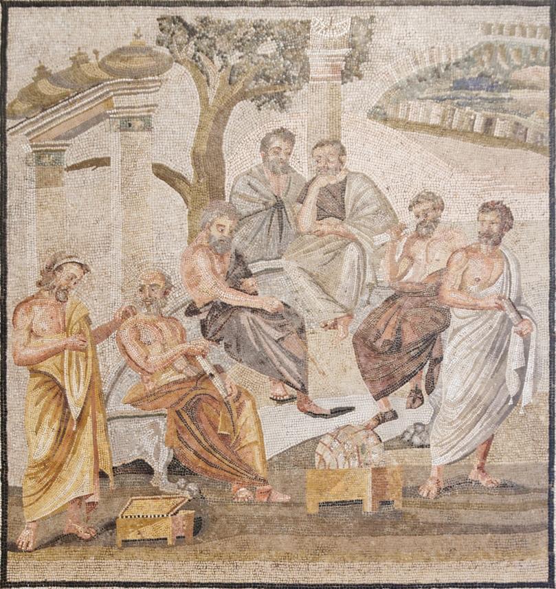 Accademia platonica. Mosaico, ante 79 d.C. Pompei, Casa di T. Siminio Stefano. Napoli, Museo Archeologico Nazionale