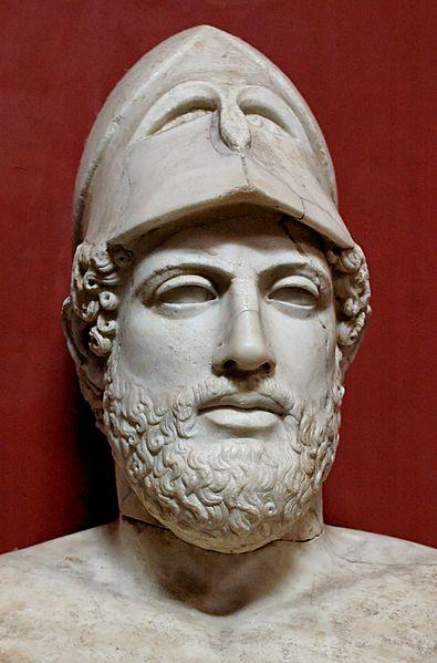 Cresila, Busto di Pericle. Marmo, copia romana da un originale greco del 430 a.C. ca. Musei Vaticani