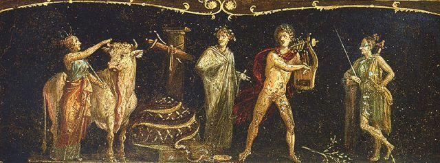 Ifigenia in Aulide. Affresco pompeiano, dalla Casa dei Vettii