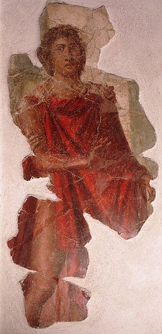 Ippolito. Affresco, I sec. d.C. dalla Villa Arianna (Stabia). Castellamare di Stabia, Antiquarium