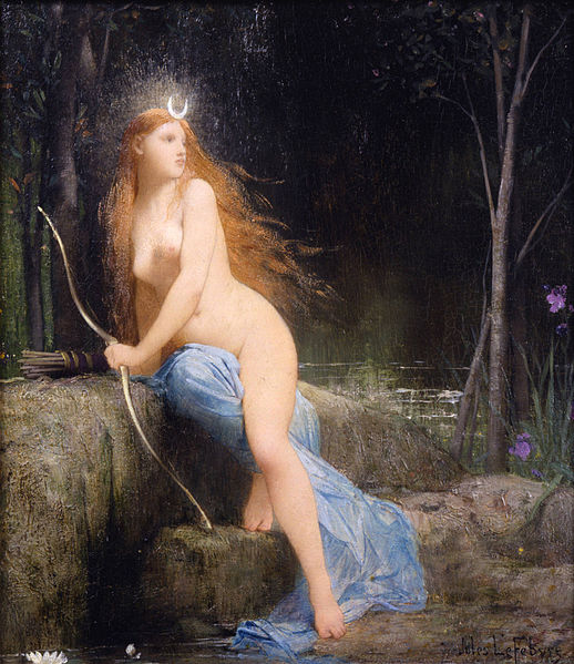 Jules Joseph Lefebvre, Diana. Olio su tela, 1879. Dahesh Museum of Art