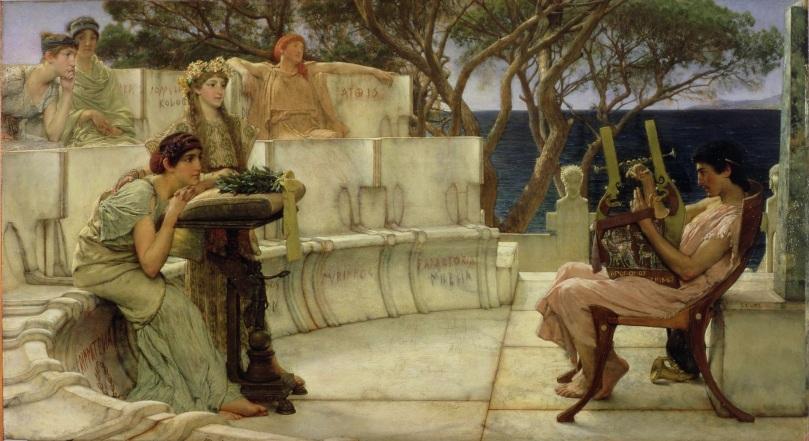 Lawrence Alma-Tadema, Saffo e Alceo. Olio su tela, 1881. Walters Art Museum.