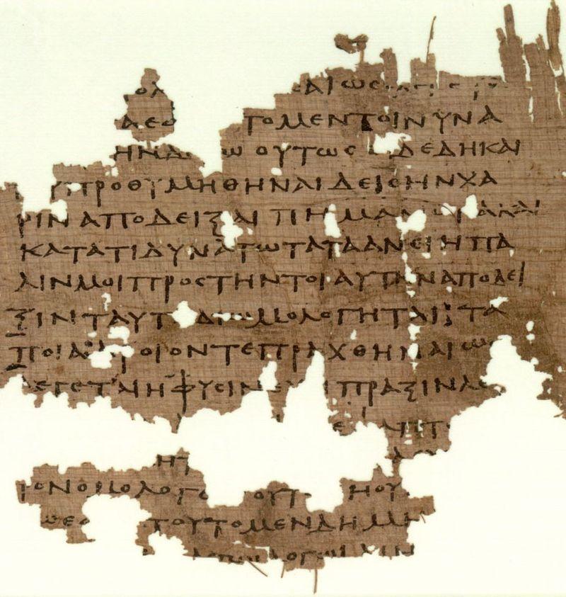 P. Oxy. 3679 (III sec. d.C.). Frammento della Πολιτεία di Platone