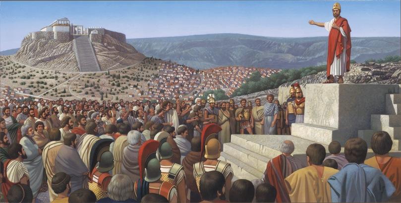 Pericle pronuncia l'epitaffio. Illustrazione di Y. Lee.