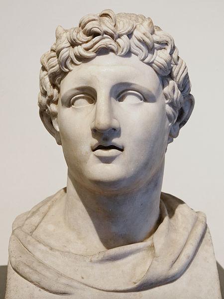 Demetrio I Poliorcete, raffigurato con corna di toro. Busto, marmo. Museo Archeologico Nazionale di Napoli