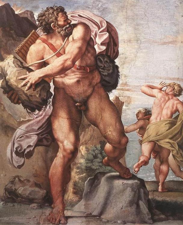 Annibale Caracci, Il ciclope Polifemo. Affresco, 1595-1600 ca.