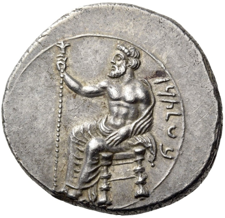 Farnabazo II, satrapo di Cilicia. Statere, Tarsos 380-373 a.C. ca. Ar. 10, 78 gr. R - BLTRZ Il dio Baaltars assiso, voltato a sinistra, con scettro nella destra.