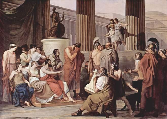 Francesco Hayez, Ulisse alla Corte di Alcinoo. Olio su tela, 1814-15. Galleria Nazionale di Capodimonte..jpg