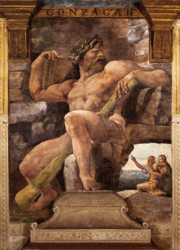Giulio Romano, Polifemo. Affresco, 1526-28