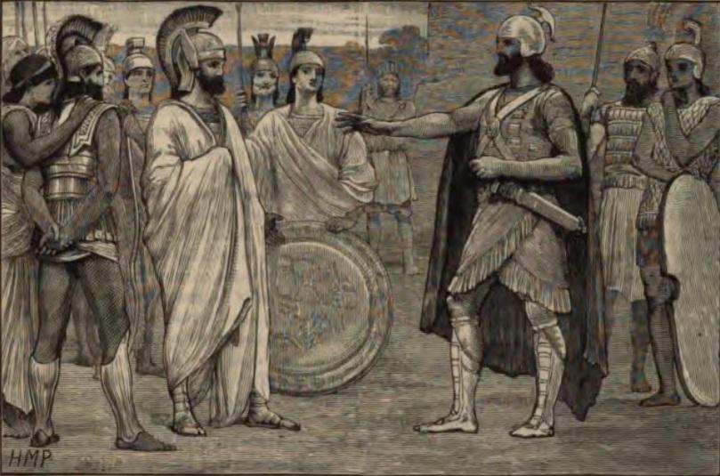 I negoziati tra Agesilao e Farnabazo. Illustrazione da E. Ollier, Cassell's illustrated universal history, I, London-Paris-New York 1882, 433
