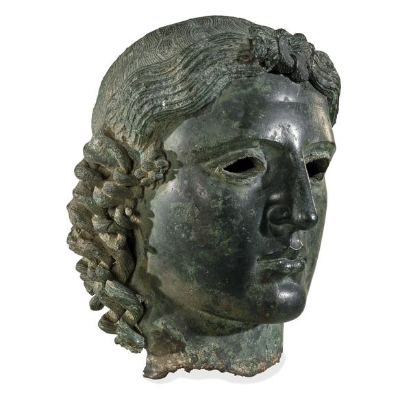 «Apollo Chatsworth», Testa, bronzo, 460 a.C. ca. da Tamasso (Cipro). London, British Museum