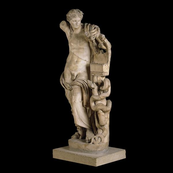 Apollo citaredo. Statua, marmo, copia romana del II sec. d.C. da originale ellenistico, da Cirene. London, British Museum.