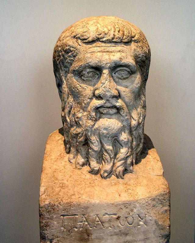 Platone. Erma, marmo bianco, copia romana da originale greco del 348 a.C. ca. Berlin, Antikensammlung