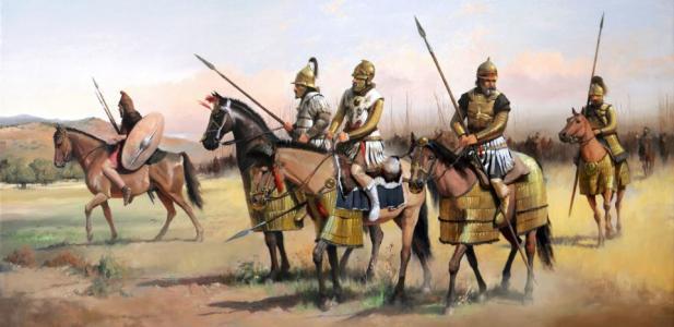 Cavalleria pontica. Illustrazione di J.D. Cabrera Peña.