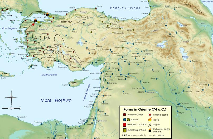 Roma in Oriente (74 a.C.)