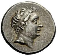 Nicomede IV di Bitinia. Tetradramma, Nicomedia, 94-74 a.C. ca. AR 14, 59 gr. Recto: Testa diademata del sovrano, voltata a destra.