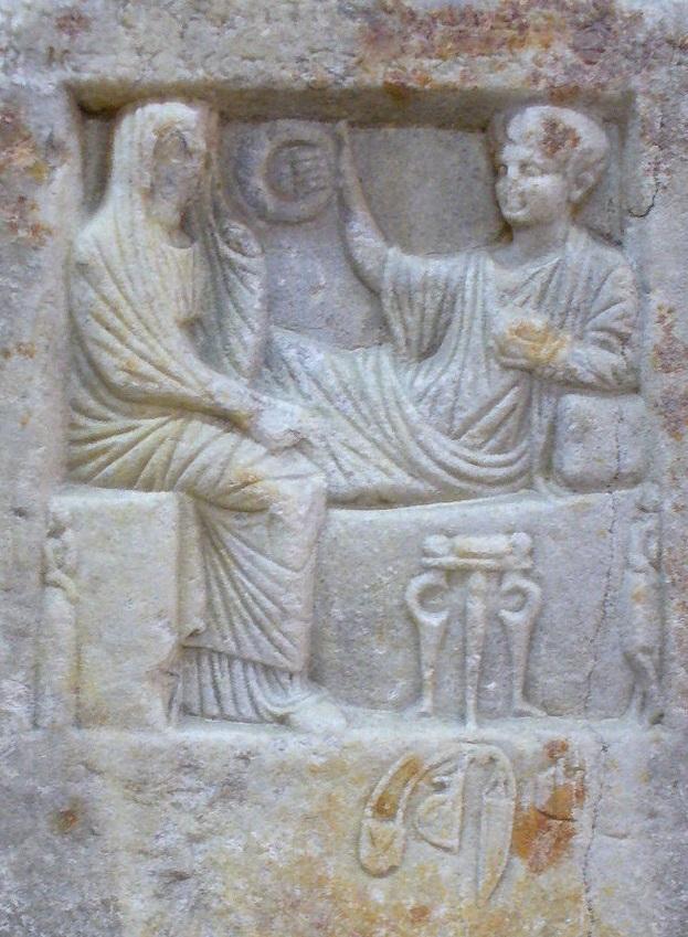 Stele funeraria di Matricone, figlio di Promatione. Rilievo, marmo, I sec. a.C. ca. Istanbul, Museo Archeologico Nazionale