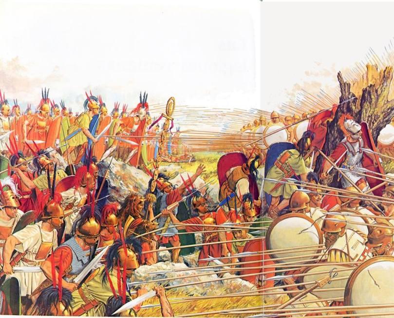 La Battaglia di Pidna. Illustrazione di P. Connolly.