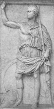 Polibio (?) raffigurato in un bassorilievo su una lastra di marmo di un monumento perduto. Museo Nazionale della Civiltà Romana, Roma.