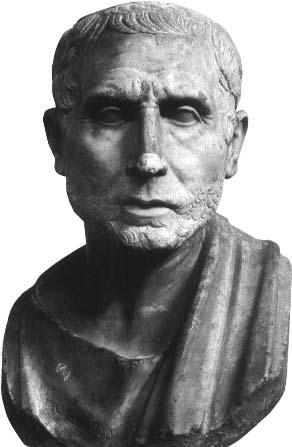 Posidonio di Apamea. Busto, marmo, inizi I sec. a.C.. dalla Collezione Farnese. Napoli, Museo Archeologico Nazionale.