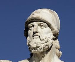 Cimone di Atene. Busto, marmo, 510-450 a.C. ca. dal monumento omonimo sulla spiaggia di Larnaca (Cipro).