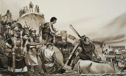 Passaggio del Rubicone. Illustrazione di A. McBride.