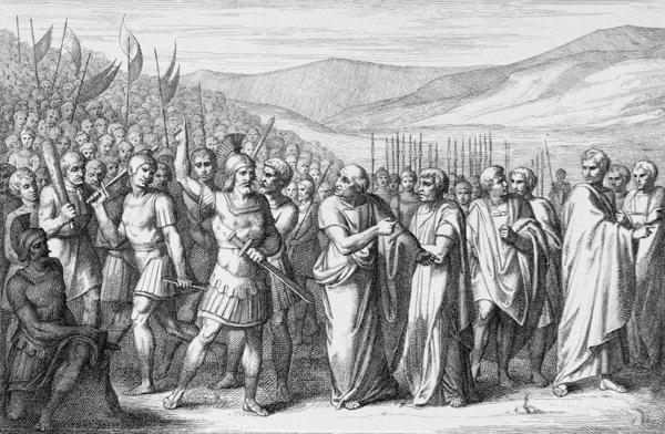 B. Barloccini, La secessio plebis al Mons Sacer (494-93 a.C.). Incisione, 1849.