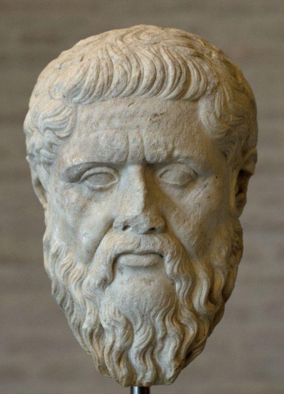 Platone. Testa, copia romana in marmo da originale del 348-347 a.C. ca. München Glyptothek