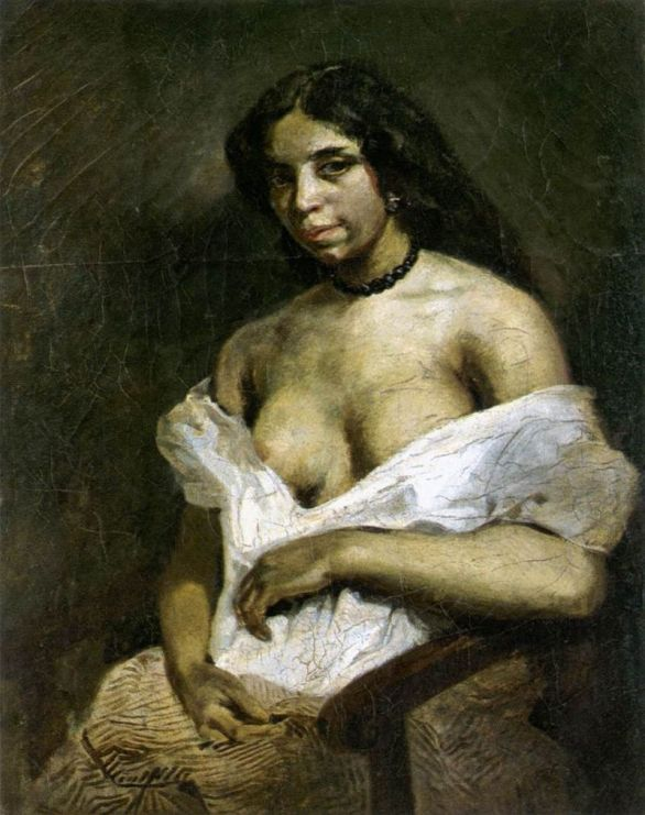 Eugène Delacroix, Aspasia. Olio su tela, 1824.