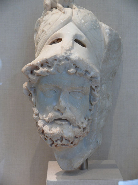 Marte. Testa, marmo, inizi III sec. d.C. New York, Metropolitan Museum of Art