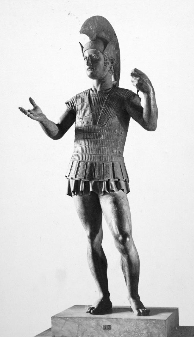 Marte di Todi. Statua, bronzo, V sec. a.C. ca. Roma, Museo Gregoriano Etrusco.