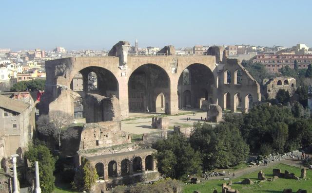 Basilica di Massenzio, inizi IV sec. d.C. Foro Romano