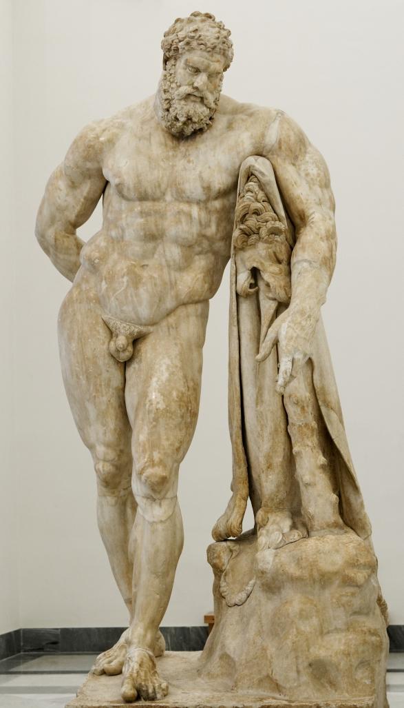 Glycon di Atene, Ercole Farnese. Copia romana in marmo del III secolo d.C. da un originale greco. Museo Archeologico Nazionale di Napoli.