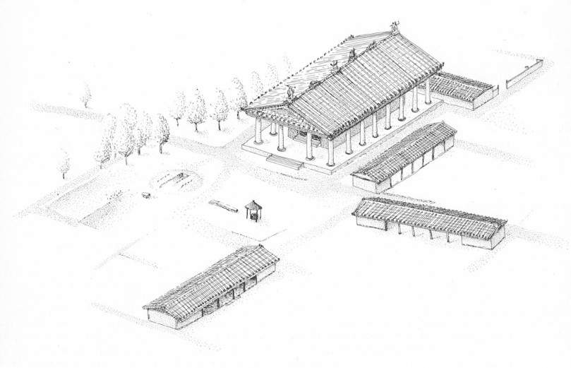 Ricostruzione del santuario di Satricum alla fine del VI secolo a.C.