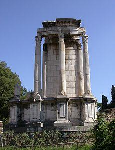 Tempio di Vesta, a Roma.