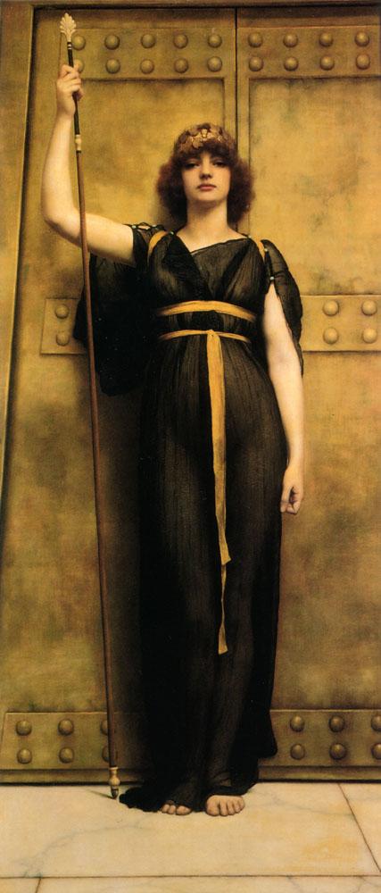 John William Godward, Una sacerdotessa. Olio su tela, 1894.