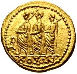Koson di Tracia. Statere, Au 8, 37 gr., Skythia. D - KOΣΩN, un console romano accompagnato da due littori in cammino verso sinistra