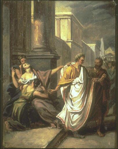 Abel de Pujol, César se rendant au sénat aux Ides de Mars