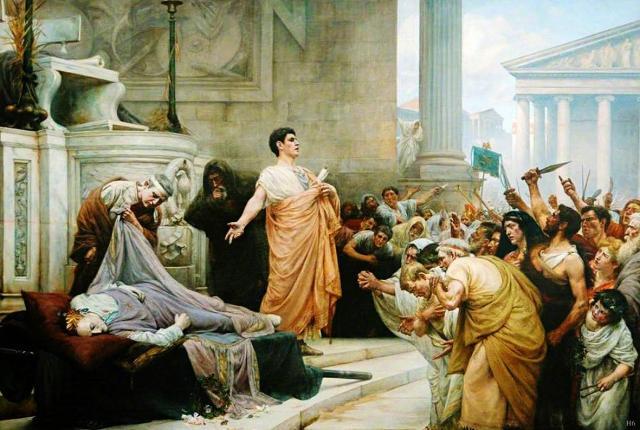 George Edward Robertson, Mark Antony's Oration. Olio su tela