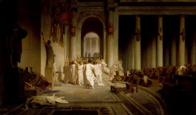 Jean-Léon Gérôme, La mort de César. Olio su tela, 1859-67. Walters Art Museum.