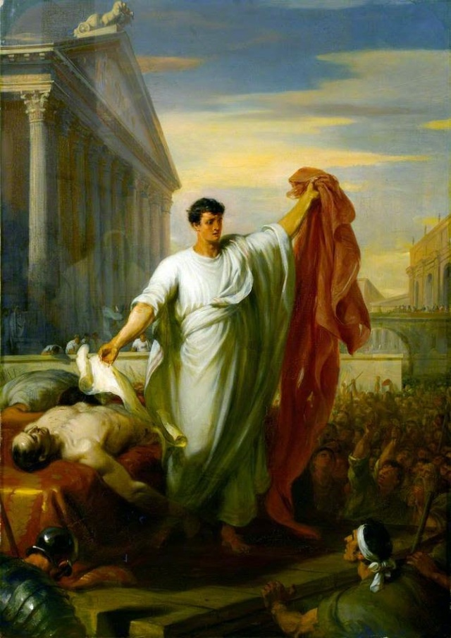 William Hilton, Marc Antony Reading the Will of Caesar. Olio su tela, 1834