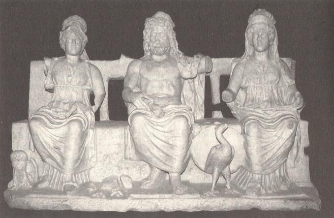 Triade Capitolina. Marmo lunense, II sec. d.C. ca., da Guidonia. Montecelio, Museo Archeologico