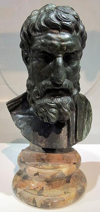Epicuro. Busto, bronzo, copia da originale greco del 250 a.C., dalla Villa dei Papiri (Ercolano). Museo Archeologico Nazionale di Napoli.