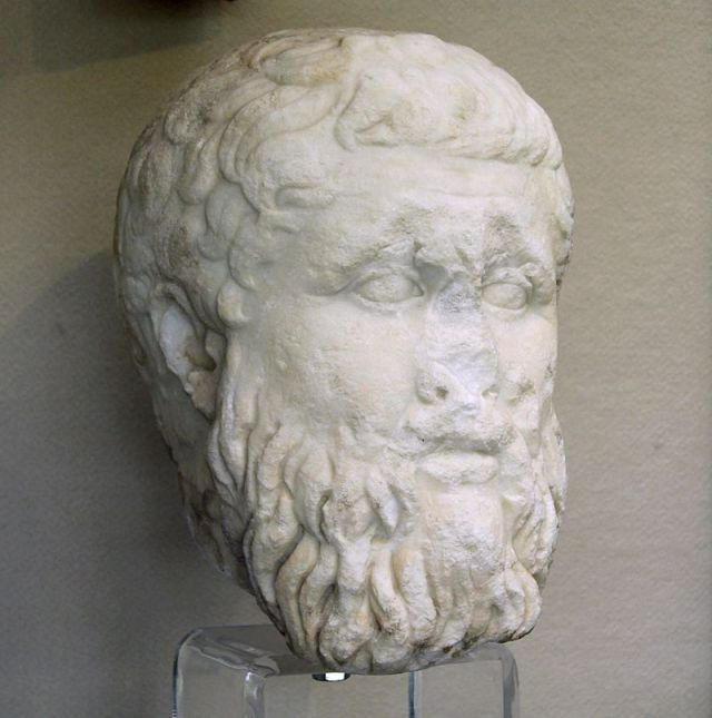 Platone. Testa, marmo, 340-300 a.C. ca. Siracusa, Museo Archeologico