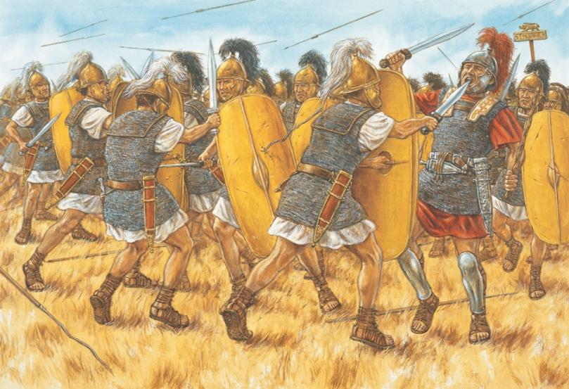 Adam Hook, Gaio Crastino guida gli uomini della X legione di Cesare a Farsalo, 48 a.C.