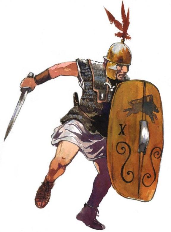 Legionario della X legione. Illustrazione di Vincent Pompetti.