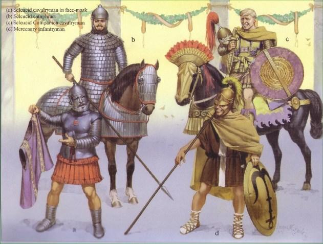 Truppe del regno seleucide (II-I sec. a.C.). Illustrazione di A. McBride.