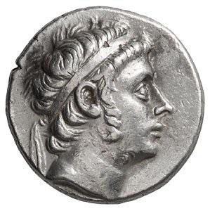 Antioco III. Tetradramma, Asia Minore 213-204 a.C. Ar. 17,01 gr. Dritto: Testa diademata del sovrano verso destra.