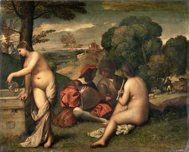 giorgione, concerto pastorale. olio su tela, 1509. paris, musée du louvre