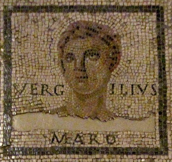 Il ritratto di Virgilio. Mosaico, I-II sec. d.C. Trier, Landesmuseum.